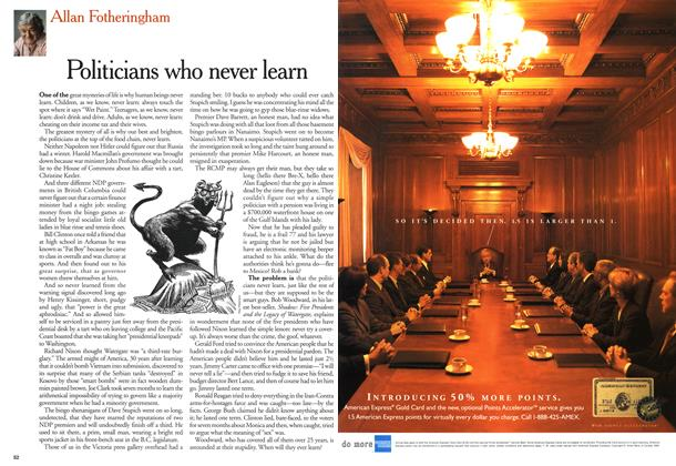 Article Preview: Politicians who never learn, July 1999 | Maclean's