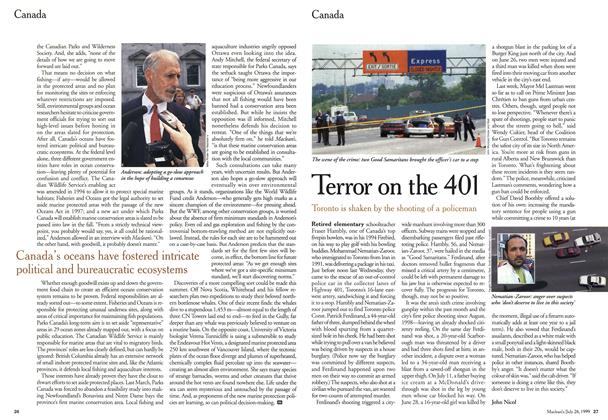 Article Preview: Terror on the 401, July 1999 | Maclean's