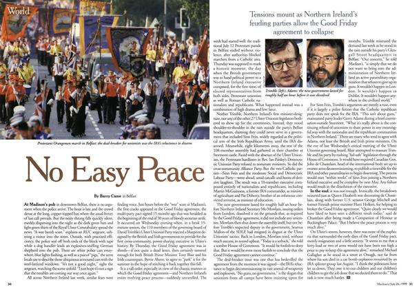 Article Preview: No Easy Peace, July 1999 | Maclean's