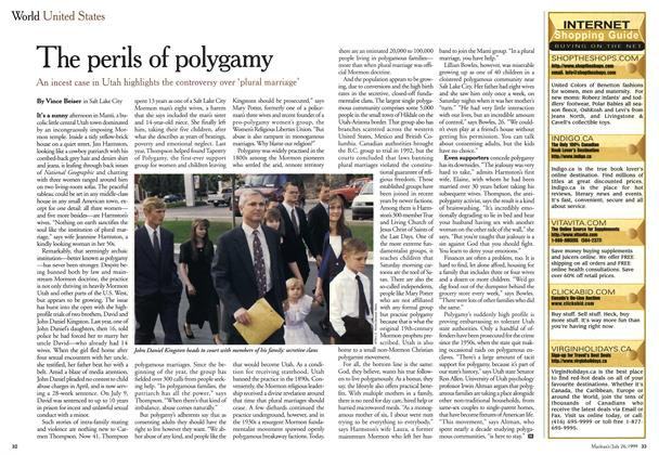 Article Preview: The perils of polygamy, July 1999 | Maclean's