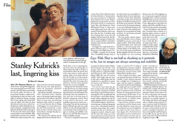 Article Preview: Stanley Kubrick's last, lingering kiss, July 1999 | Maclean's