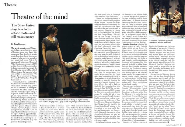 Article Preview: Theatre of the mind, July 1999 | Maclean's