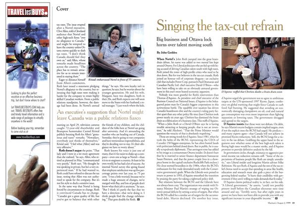 Article Preview: Singing the tax-cut refrain, August 1999   Maclean's