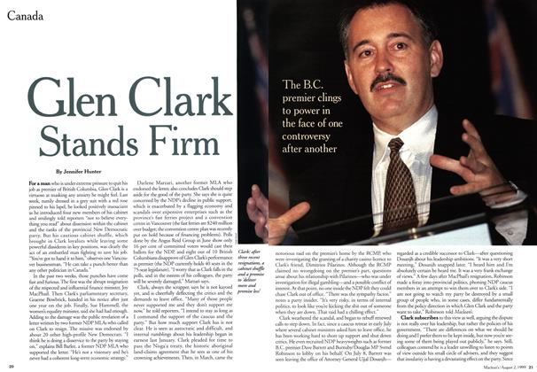 Article Preview: Glen Clark Stands Firm, August 1999 | Maclean's