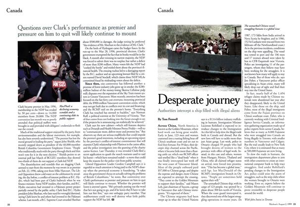 Article Preview: Desperate journey, August 1999 | Maclean's