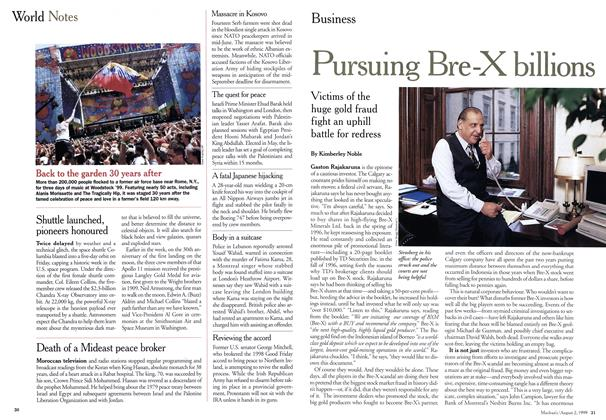 Article Preview: Pursuing Bre-X billions, August 1999 | Maclean's