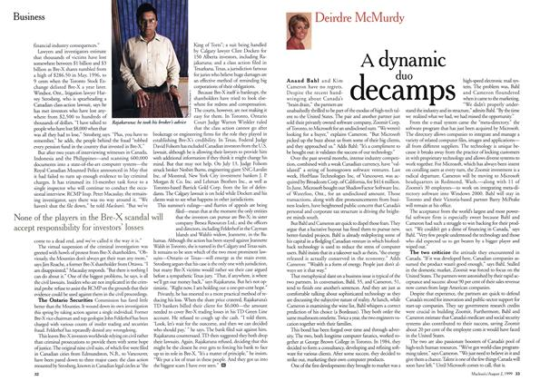 Article Preview: A dynamic duo decamps, August 1999 | Maclean's