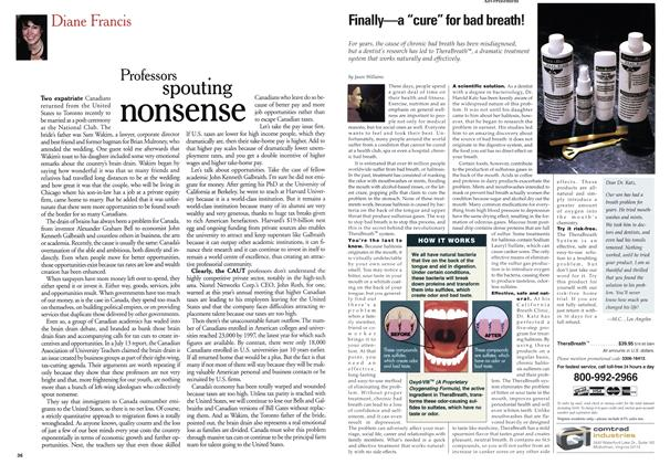 Article Preview: Professors spouting nonsense, August 1999 | Maclean's