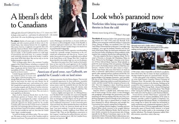 Article Preview: A liberal's debt to Canadians, August 1999 | Maclean's
