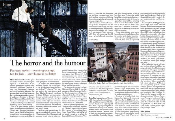 Article Preview: The horror and the humour, August 1999 | Maclean's