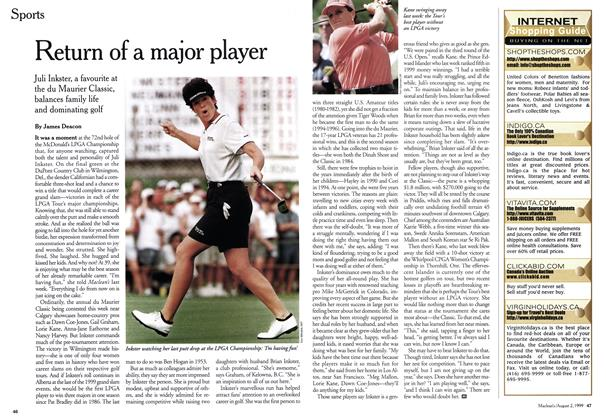 Article Preview: Return of a major player, August 1999 | Maclean's