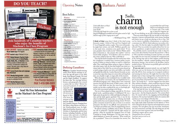 Article Preview: Sadly charm is not enough, August 1999 | Maclean's