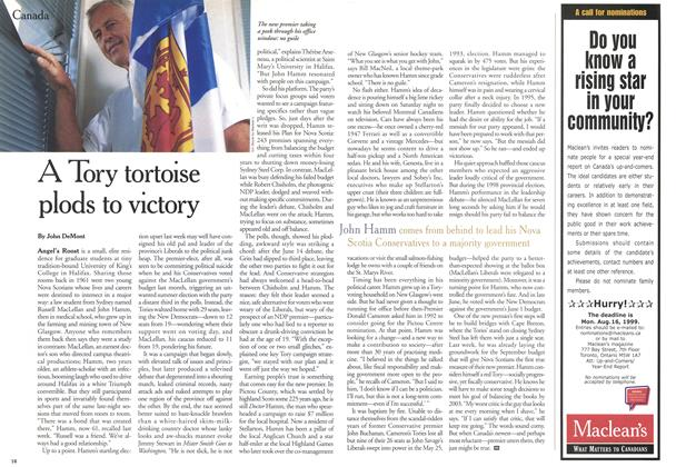 Article Preview: A Tory tortoise plods to victory, August 1999 | Maclean's