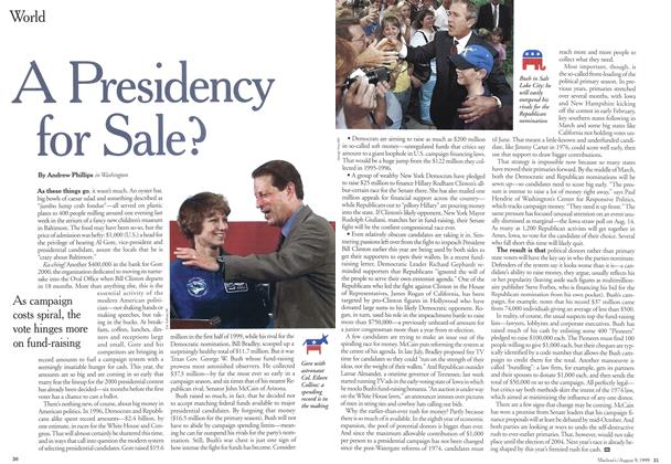 Article Preview: A Presidency for Sale?, August 1999 | Maclean's
