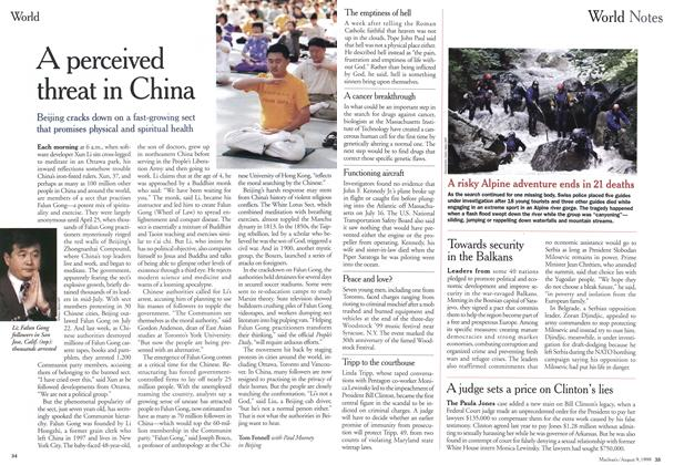 Article Preview: A perceived threat in China, August 1999 | Maclean's