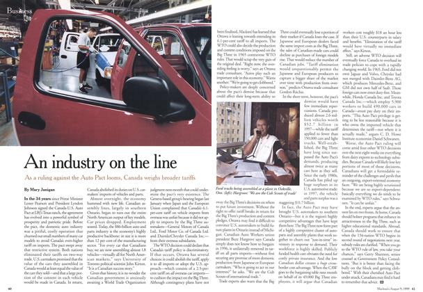 Article Preview: An industry on the line, August 1999 | Maclean's