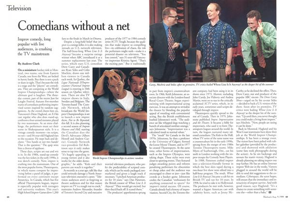 Article Preview: Comedians without a net, August 1999 | Maclean's