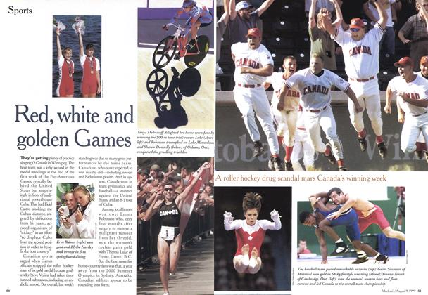 Article Preview: Red, white and golden Games, August 1999 | Maclean's