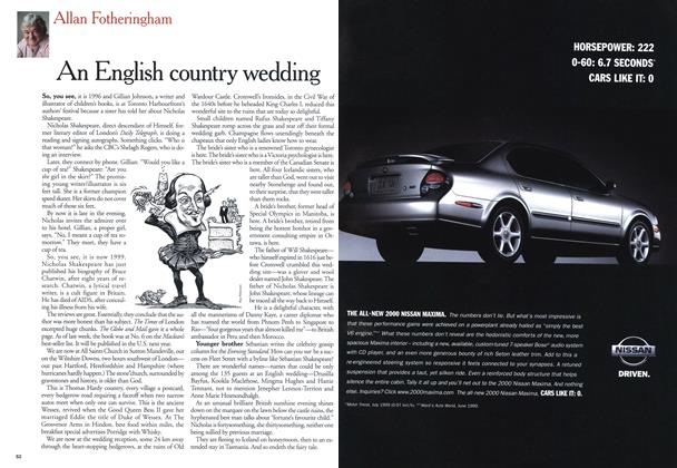 Article Preview: An English country wedding, August 1999 | Maclean's