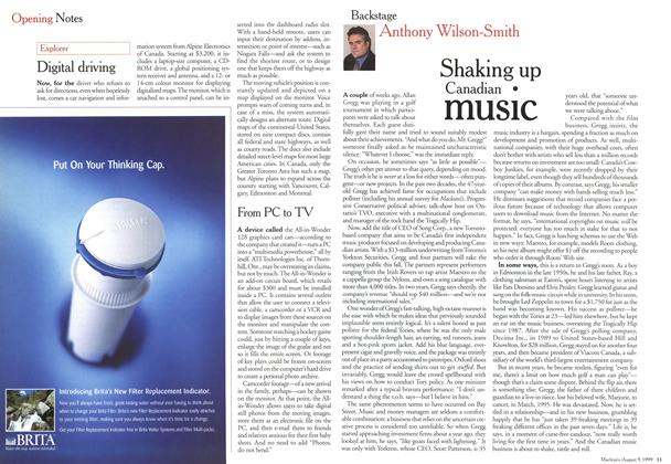 Article Preview: Shaking up Canadian music, August 1999 | Maclean's