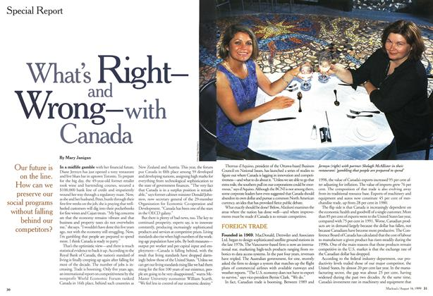Article Preview: What's Right-and Wrong-With Canada, August 1999 | Maclean's