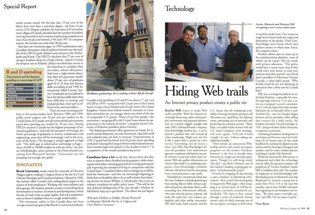 Article Preview: Hiding Web trails, August 1999 | Maclean's