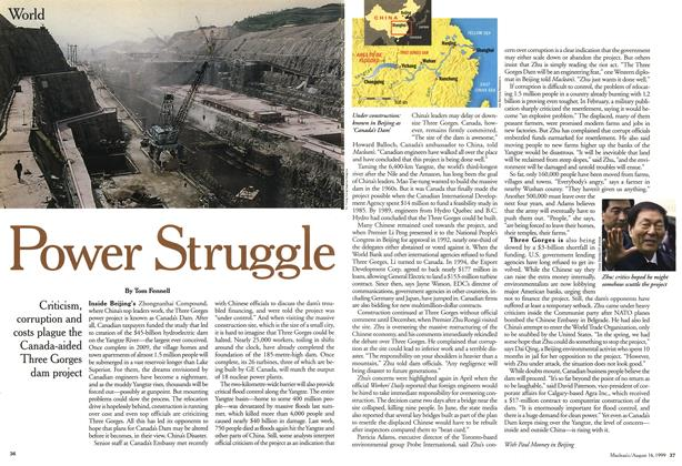Article Preview: Power Struggle, August 1999 | Maclean's
