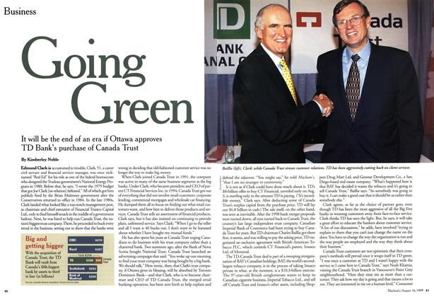 Article Preview: Going Green, August 1999 | Maclean's