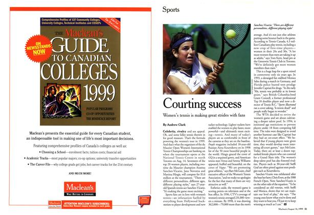 Article Preview: Courting success, August 1999 | Maclean's