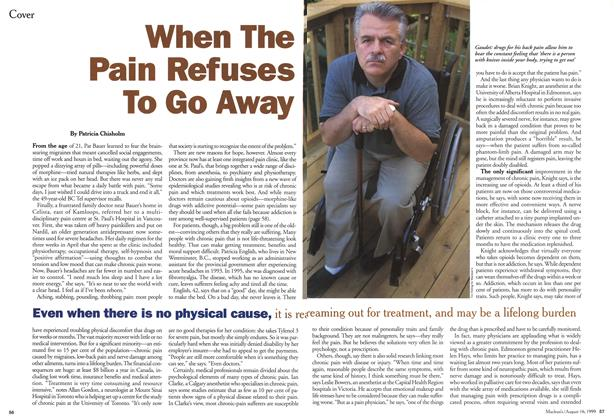 Article Preview: When The Pain Refuses To Go Away, August 1999 | Maclean's