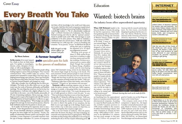 Article Preview: Every Breath You Take, August 1999 | Maclean's