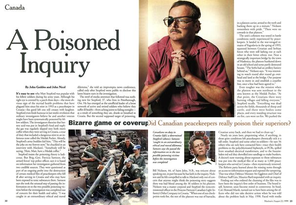 Article Preview: A Poisoned Inquiry, August 1999 | Maclean's