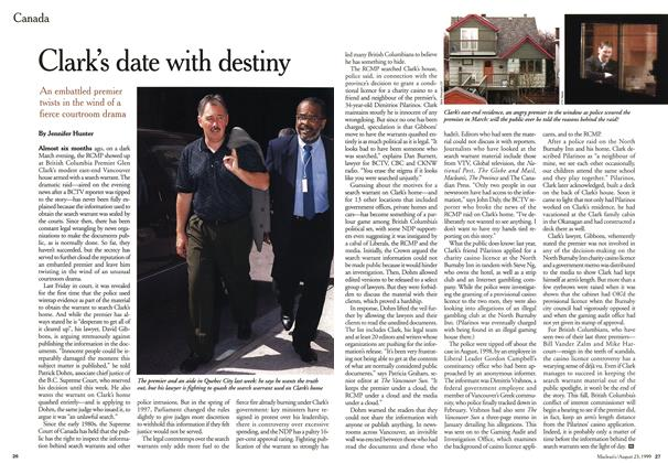 Article Preview: Clark's date with destiny, August 1999 | Maclean's
