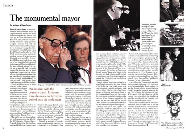 Article Preview: The monumental mayor, August 1999 | Maclean's