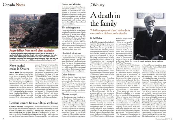 Article Preview: A death in the family, August 1999 | Maclean's
