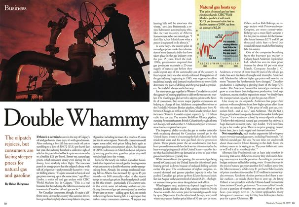 Article Preview: Double Whammy, August 1999 | Maclean's