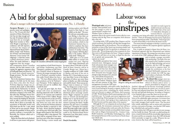Article Preview: A bid for global supremacy, August 1999 | Maclean's