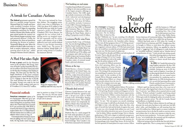 Article Preview: Ready for takeoff, August 1999   Maclean's