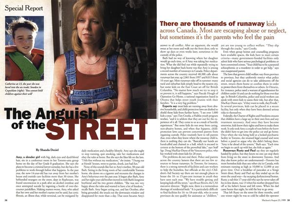 Article Preview: The Anguish of the STREET, August 1999 | Maclean's