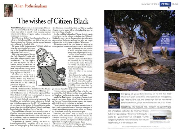 Article Preview: The wishes of Citizen Black, August 1999 | Maclean's