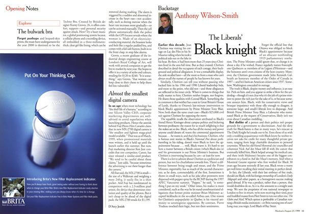 Article Preview: The Liberals' Black knight, August 1999 | Maclean's