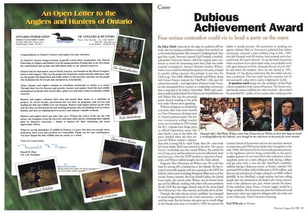 Article Preview: Dubious Achievement Award, August 1999 | Maclean's