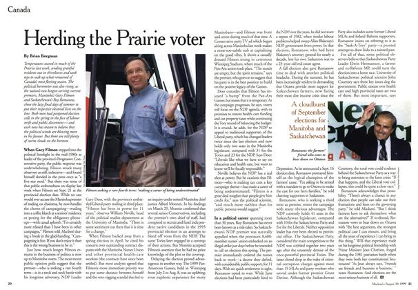 Article Preview: Herding the Prairie voter, August 1999 | Maclean's
