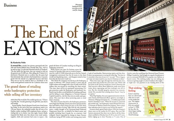 Article Preview: The End of EATON'S, August 1999 | Maclean's