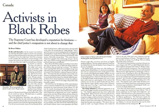 Article Preview: Activists in Black Robes, September 1999 | Maclean's