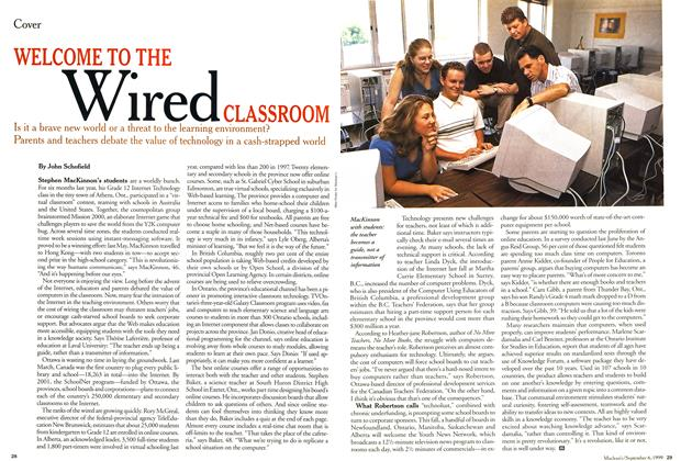 Article Preview: WELCOME TO THE Wired CLASSROOM, September 1999 | Maclean's