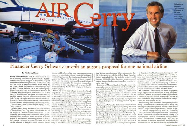 Article Preview: AIR Gerry, September 1999 | Maclean's