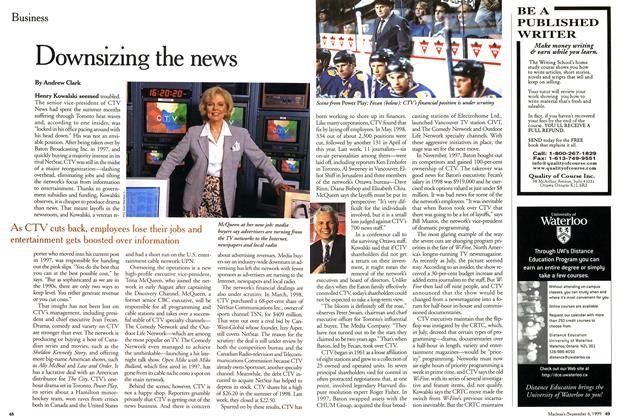 Article Preview: Downsizing the news, September 1999 | Maclean's