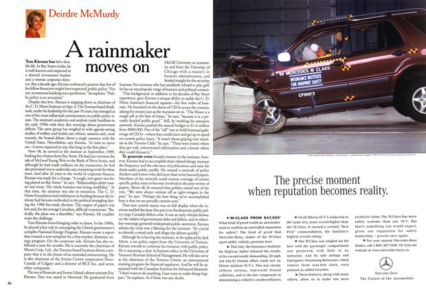 Article Preview: A rainmaker moves on, September 1999 | Maclean's
