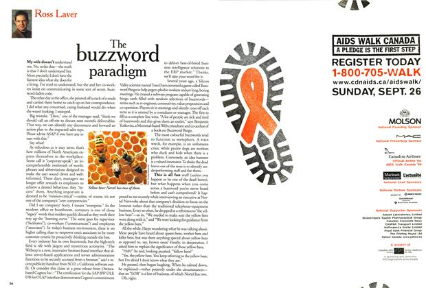 Article Preview: The buzzword paradigm, September 1999 | Maclean's